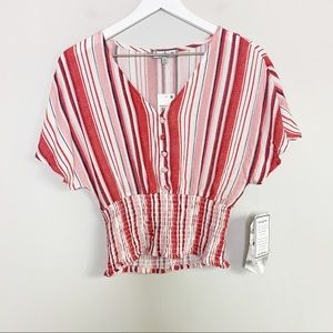 NWT Crave Fame Pink Striped Top S